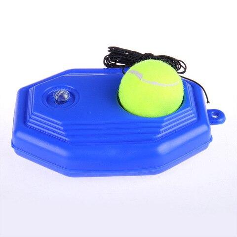 Conjunto de Tênis Bola de Treinamento Base de Tênis com Corda Fácil de Usar Equipamento de Esportes de Rodapé de Tênis Treinador Durável Dispositivo Auto-estudo 1