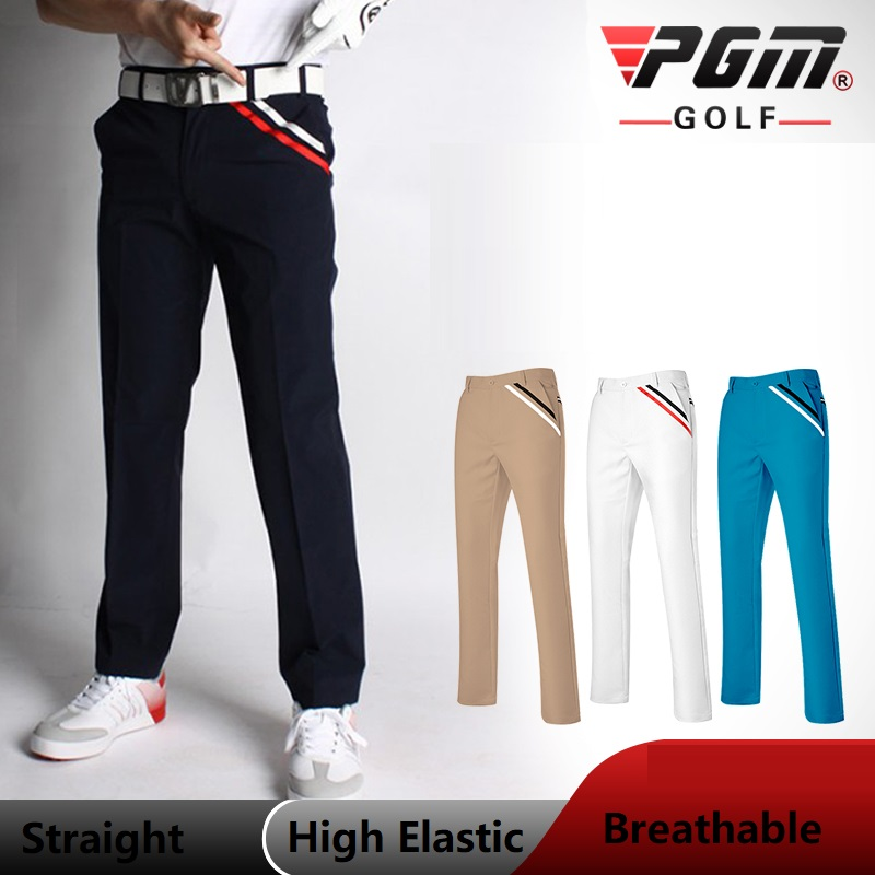 PGM Sportswear Golf Pants Men High Elastic Breathable Golf Trousers Clothing Table Tennis Full Length Winter Autumn Pants