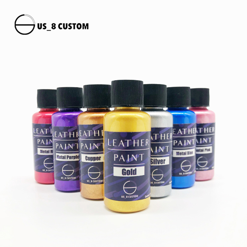 Sneakers DIY Customizable Pigment Leather Metallic Pearly Gold Silver Paint Color Changing Shoes Spray Gun Coating Paint 30ml