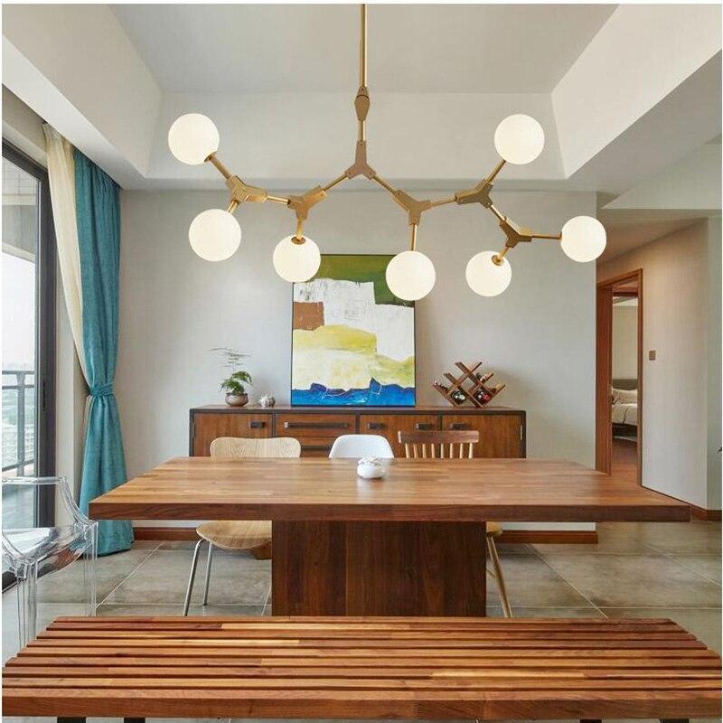 Постмодерн волшебный Bean светодиодный светильник, стеклянная простая молекулярная Люстра для гостиной, спальни, бара, ресторана, подвесное освещение|Люстры|   | АлиЭкспресс