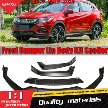 For Honda HRV Body kit spoiler 2020-2021 For HRV ABS Rear lip rear spoiler front Bumper Diffuser Bumpers Protector