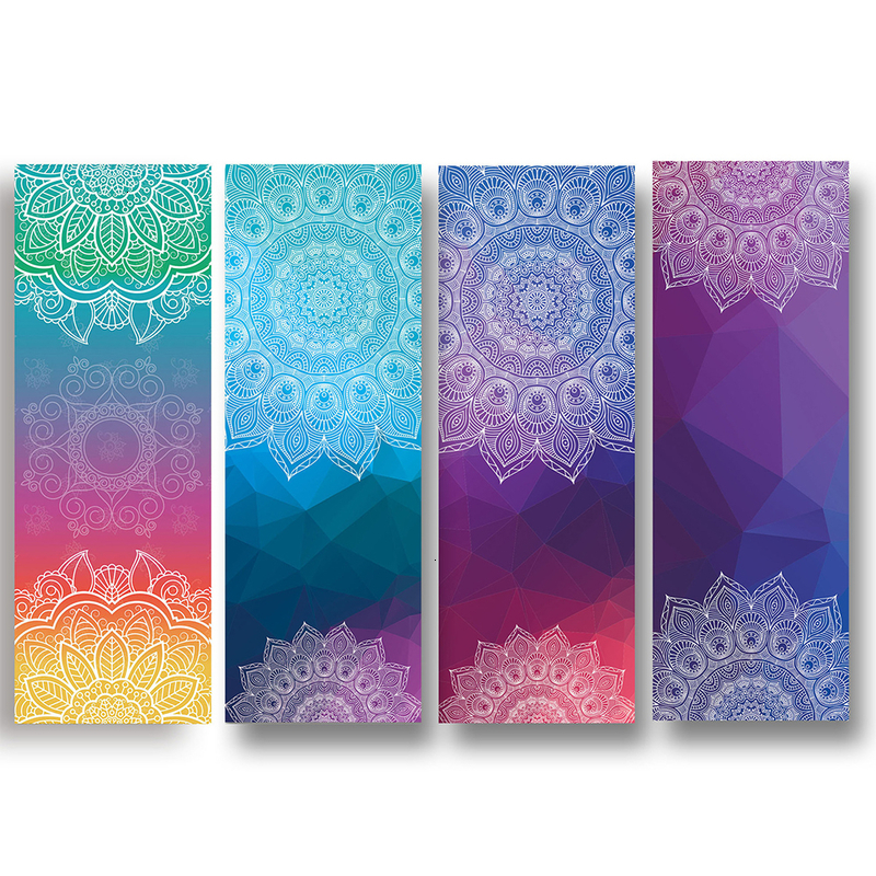 Lady's Yoga Mat Towel Thick Floral Print Indoor Outdoor Foldable Bodybuilding Exercise Mat Sports Equipment 183cm X 63cm
