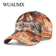 Высококачественная повседневная бейсболка wuaumx с 3d принтом