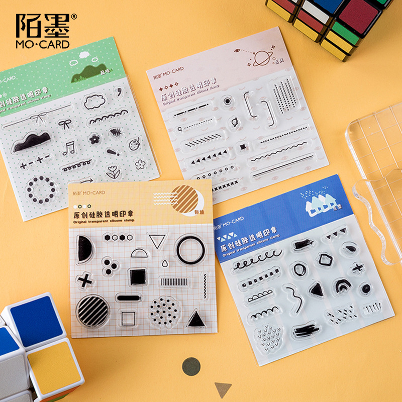 Cute Stamp Rubber Transparent Silicone Seal For DIY Scrapbooking Photo Album Decorative Stamp Crafts School Office Supplies
