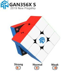 Магнитный скоростной куб GAN356 X S 3x3x3, профессиональные магниты, магические Кубики-головоломки GAN356X