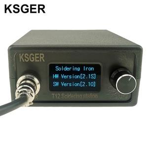 Image 2 - KSGER STM32 OLED V2.1S T12 محطة لحام لتقوم بها بنفسك أطقم رقمية متحكم في درجة الحرارة الإلكترونية لحام سبيكة لحام نصائح