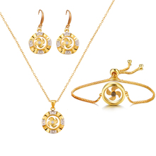 Bettyue Fashion Style Windmill Appearance Earring And Necklace Noble Jewelry Sets Adjustable Bracelet CZ Charming Decoration noble 2 minute charming smile trainer