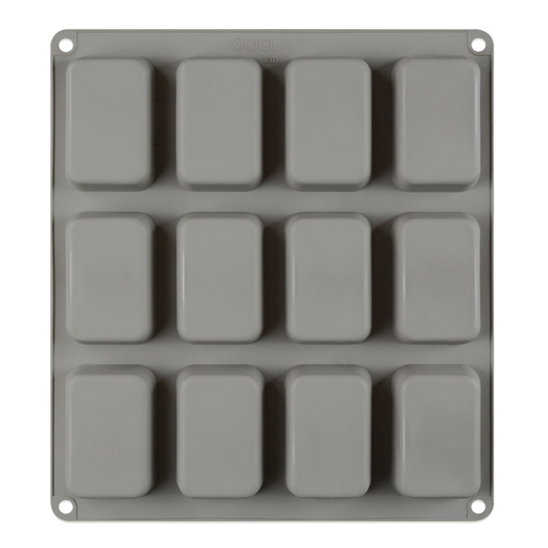 Silicone Mini Cake Molds Baking Pan Tray For Kitchen Accessories Cookie Pans 12 Cavity Mini Cake Pan Biscuit Brownie Baking Tray image