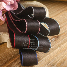100yards 15 25 40mm colorful edge satin ribbon polyester cotton for kids hair diy accessories bouquet flower packing bow