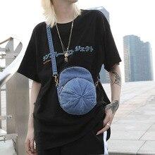 Denim Bag Crossbody Bags Women Cap Shape Design Black Goth Blue Fashion Streetwear Small Schoolbag One Shoulder 2020