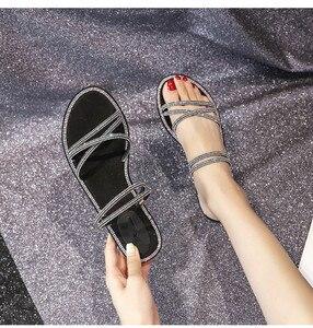 Image 2 - Женская обувь с блестящими стразами, обувь для девушек, женская обувь на резиновой подошве