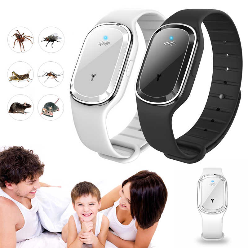 Ultrasonic Anti-Mosquito Insect Pest Bugs Repellent Repeller Wrist Bracelet Band