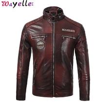 Faux Leather Jackets Men 2019 New Autumn Winter Fashion Biker Motorcycle Coats Soft PU Jacket Warm 3XL