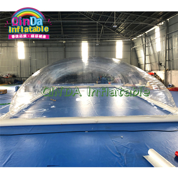 цена на outdoor clear transparent inflatable pool cover tents,pvc transparent inflatable pool bubble dome tent for sale