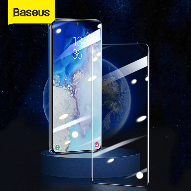 Baseus UV Tempered Glass For Samsung Galaxy S20 Plus Full Cover 2pcs Screen Protector Protective Glass For Galaxy S20 S20 Ultra