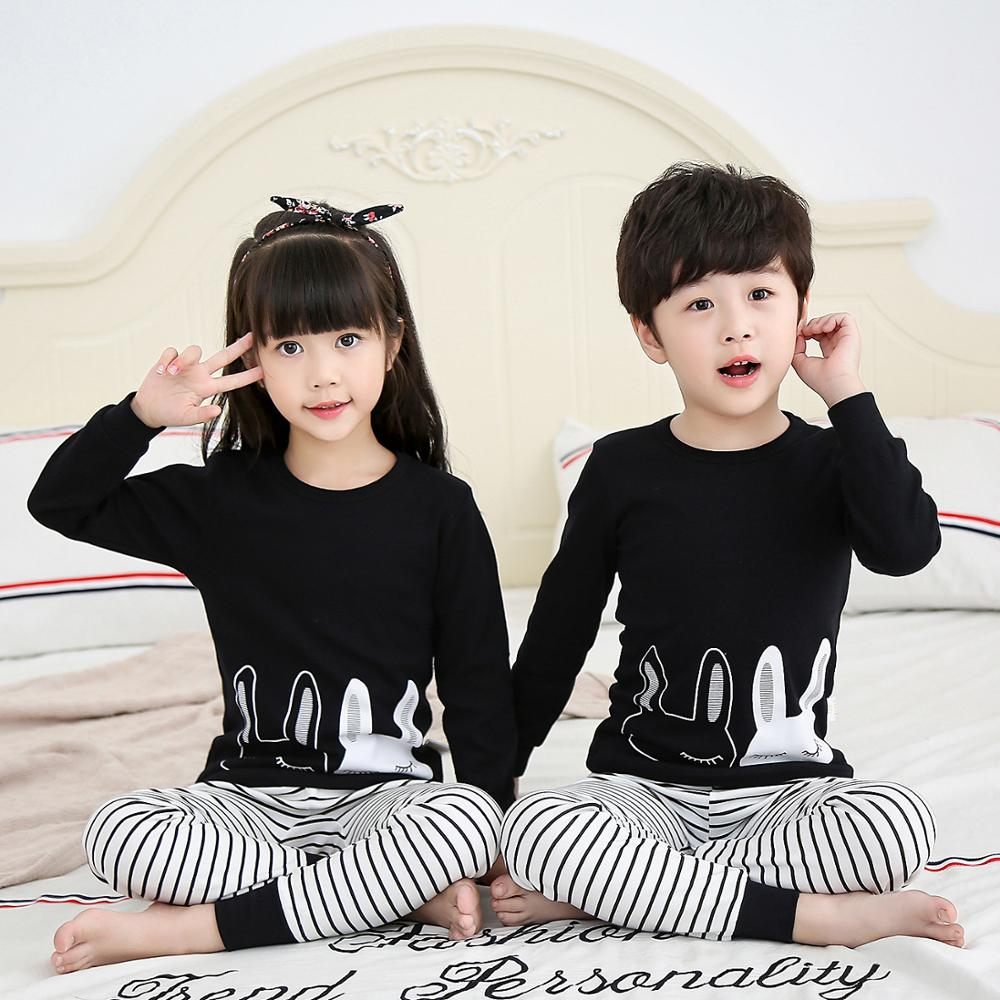 Kids Pajamas Children Sleepwear Rabbit Boys Girls Pajamas Set Cotton Kids Clothes Nightwear Toddler Animal Pyjamas Baby Pijamas 1