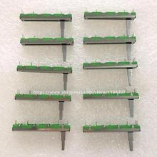 파이오니어 DJM 400 500 600 믹서 볼륨 퍼터/듀얼 채널 페이더 20MMD 용 10pcs 60mm 스트레이트 슬라이드 포텐쇼미터 B10K