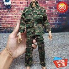 1/6 skala Action Figure Zubehör Dschungel Camouflage Kampf Uniformen Military Kleidung anzug Für 12 zoll Männlichen Hottoys Puppe Figur