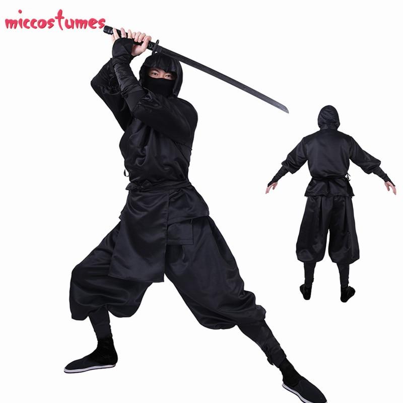 Ninja Cosplay Japanese Ninja Bushido Cosplay Costume for Adults with Hood and socks Halloween Costumes for Men 1
