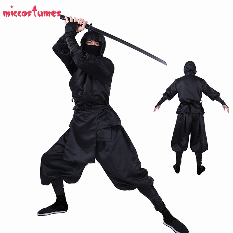 Ninja Cosplay Japanese Ninja Bushido Cosplay Costume For Adults With Hood And Socks Halloween Costumes For Men