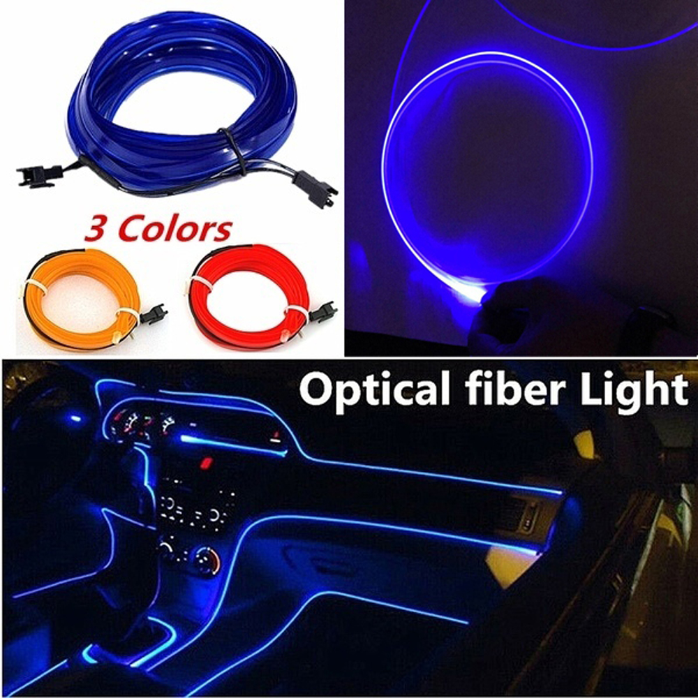 Car LED Interior Ambient Light Decor Atmosphere Optical Fiber Lamp Door Light Car accessories