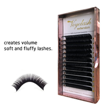 Eyelash Extension Individual Custom Faux Mink Lashes False Eye Lashes Professional Salo Lashes for Makeup Eyelash Extensions genie shadow lashes individual lashes double curl and length faux mink fit for volume eyelash extension make up eye lashes