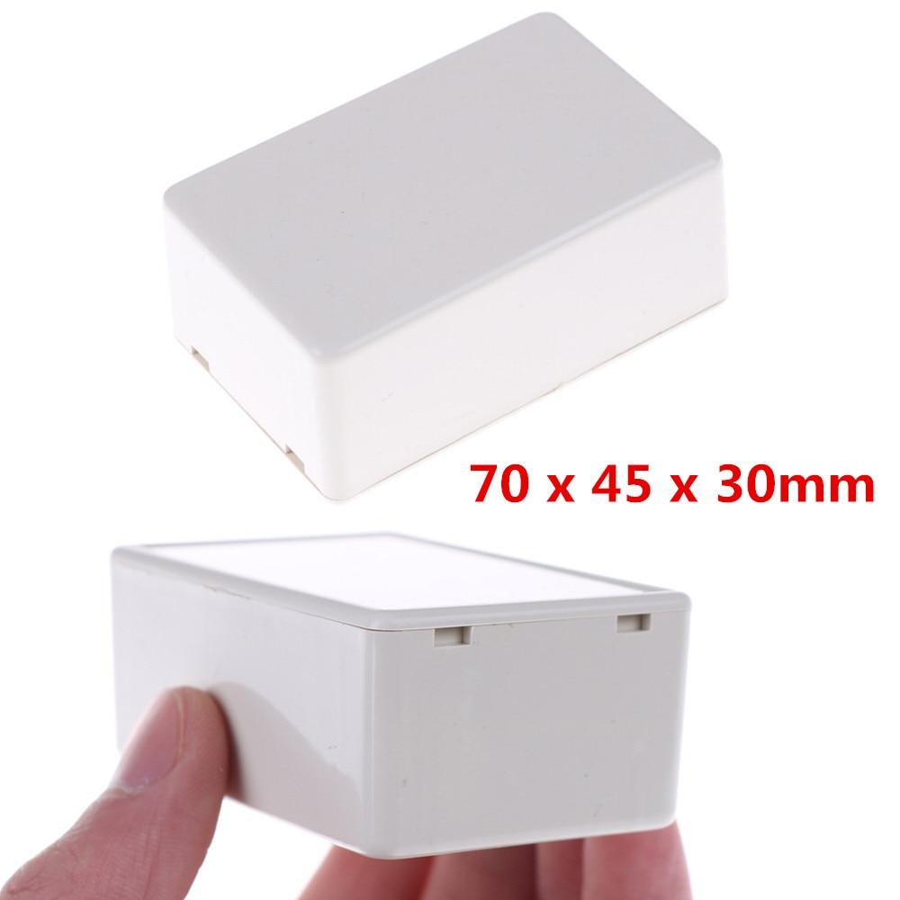 2 шт. белый пластиковый водонепроницаемый чехол проект электронный инструмент чехол Корпус коробка 70X45X30 мм