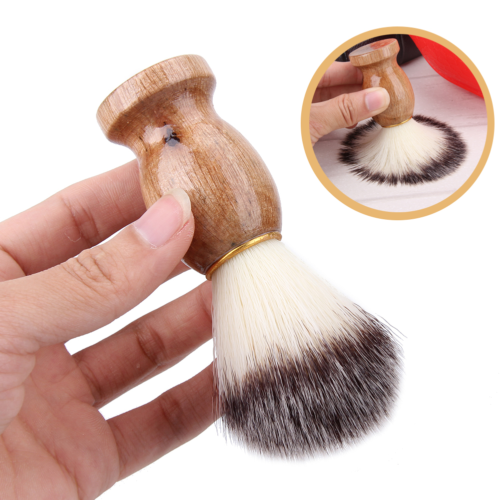 Men Beard Brush Wooden Handle Shaving Brush Men's Shaving Tool Salon Men Facial Beard Cleaning Tool Safety Razor Brush shaving brush beard brushbrush barber - AliExpress