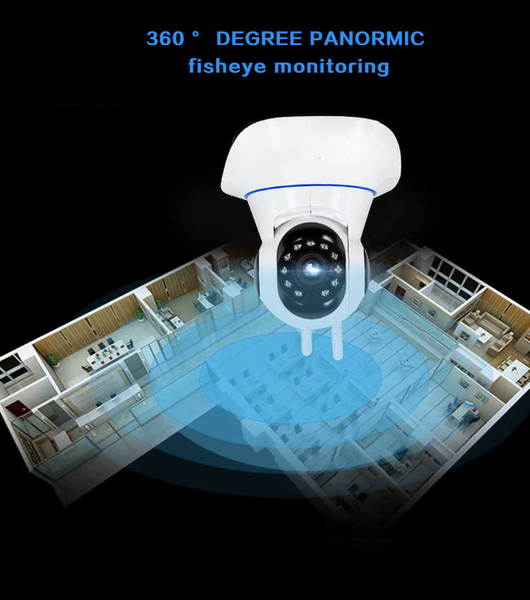 Kamera Ip 1080P Kamera Nirkabel Rumah Keamanan Kamera Surveilans Kamera Malam Visi Kamera CCTV Monitor Bayi atau Kartu Memori