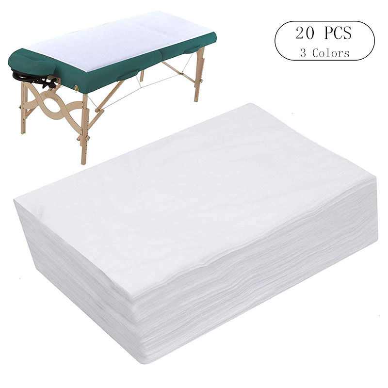 10/20 PCS Spa Bed Sheets Disposable Massage Table Sheet Waterproof Bed Cover Non-Woven Fabric, 180 x 80 CM