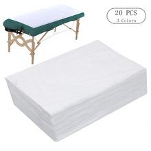 10 20 sztuk Spa prześcieradła jednorazowe masaż obrus na stół wodoodporne łóżko pokrywa włóknina 180 #215 80 CM tanie tanio 180g Dorosłych Płaski arkusz Klasa a Stałe Gładkie barwione massage bed sheet spa bed cover massage table cover massage table sheet