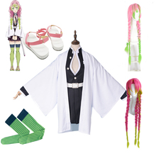 Kanroji Mitsuri Cosplay Costume Full set Anime Demon Slayer Kimetsu No Yaiba Cosplay Costumes Shoes Wig Blade Of Demon Kimono full set demon slayer kimetsu no yaiba kamado nezuko cosplay costume kimono wig geta shoes headwear japan anime halloween dress