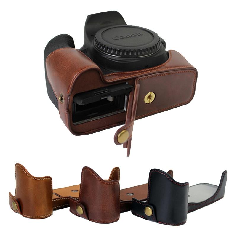 Étui portable en cuir PU pour Canon EOS 5D3 5D4 5D III 5DIV 5DSR 5D Mark IV appareil photo demi-coque inférieure du corps