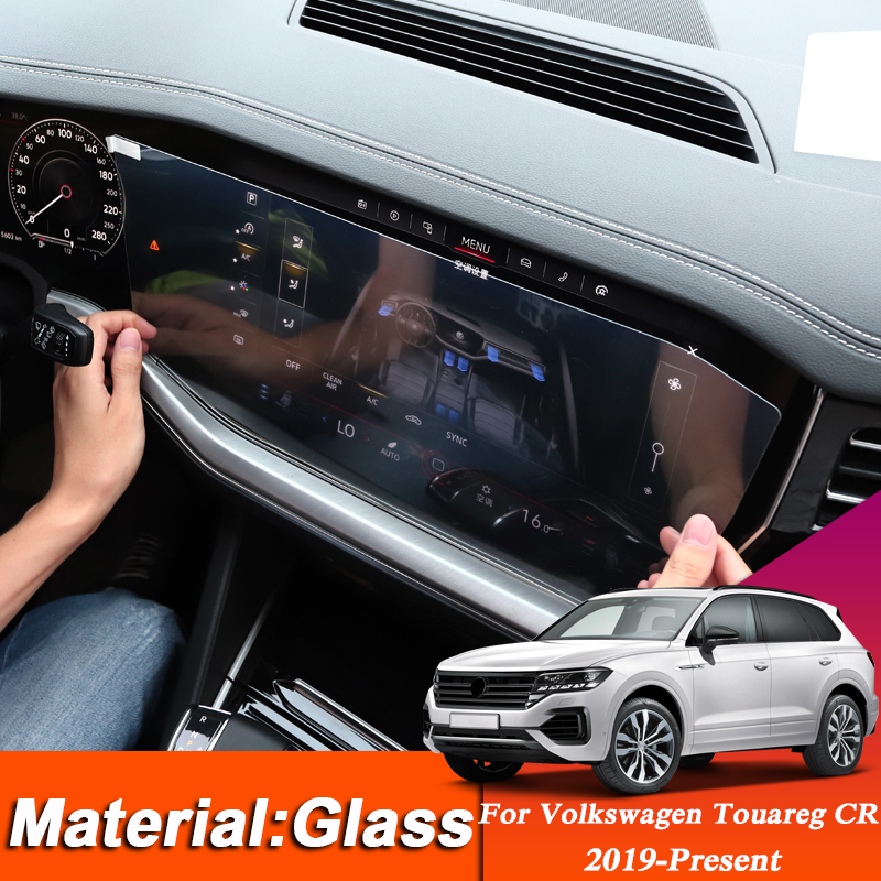 Car Styling TPU Dashboard GPS Navigation Screen Glass Protective Film For Volkswagen Touareg CR 2019-Present Interior Sticker