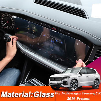 Car Styling TPU Dashboard GPS Navigation Screen Glass Protective Film For Volkswagen Touareg CR 2019-Present Interior Sticker image