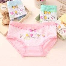 60Pcs/Lot Baby Girls Rabbit Briefs Panties Cotton Children's Underwear Girls Boxer Shorts