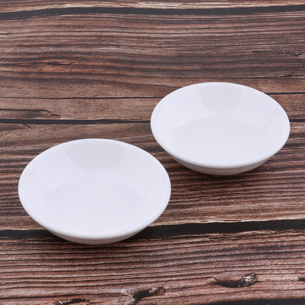 2pcs Oil Warmer Replacement Dish White Ceramic Dish For Aroma Lamp Oil Burner Tealights Holder Home Table Decor
