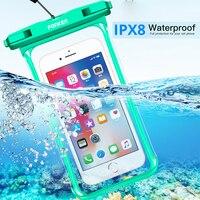 FONKEN-funda impermeable transparente para Iphone, Xiaomi y Samsung, funda para reloj submarino, funda para natación, funda para móvil