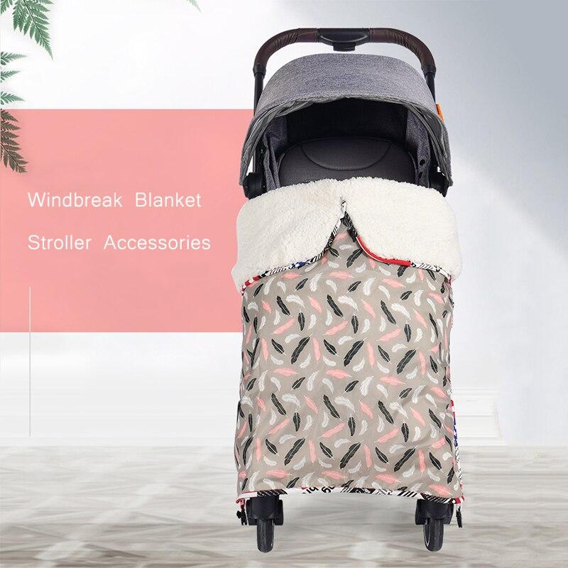 Waterproof Baby Car Seat Cover 85*75cm Winter Windproof Stroller Blanket  Baby Wrap Blanket Toddler Sleeping Blanket Universal