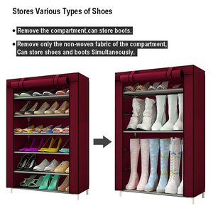 Image 2 - Multilayers נירוסטה נעל Rack הבית ארגונית עבור נעל מדף ארון אבק הוכחה ברזל מדפי עבור נעלי אחסון מדף מדף