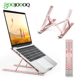 Image 5 - Laptop Stand, GOOJODOQ Adjustable Aluminum Soporte Notebook Soporte para Laptop Foldable soporte portatil Stand for MacBook Pro