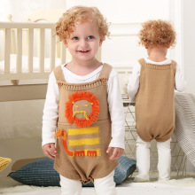 Baby Overall Cute lion Pattern Kids Romper Overalls Lovely Animals Boy Girl Child knitted baby clothes