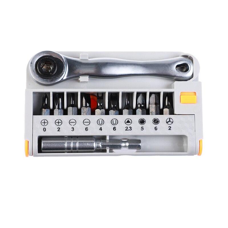 12Pcs Torx Screwdriver Set Multitul Mini Ratchet Wrench Close Quarter Ratcheting Screw Driver Bits Head Set Multi Tool|Screwdriver| |  - title=