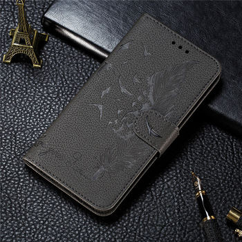 For Case SAMSUNG A02S Embossed Flip Magnetic Coque for Samsung Galaxy A02S A 02S Wallet Card Luxury Back Cover Shockproof