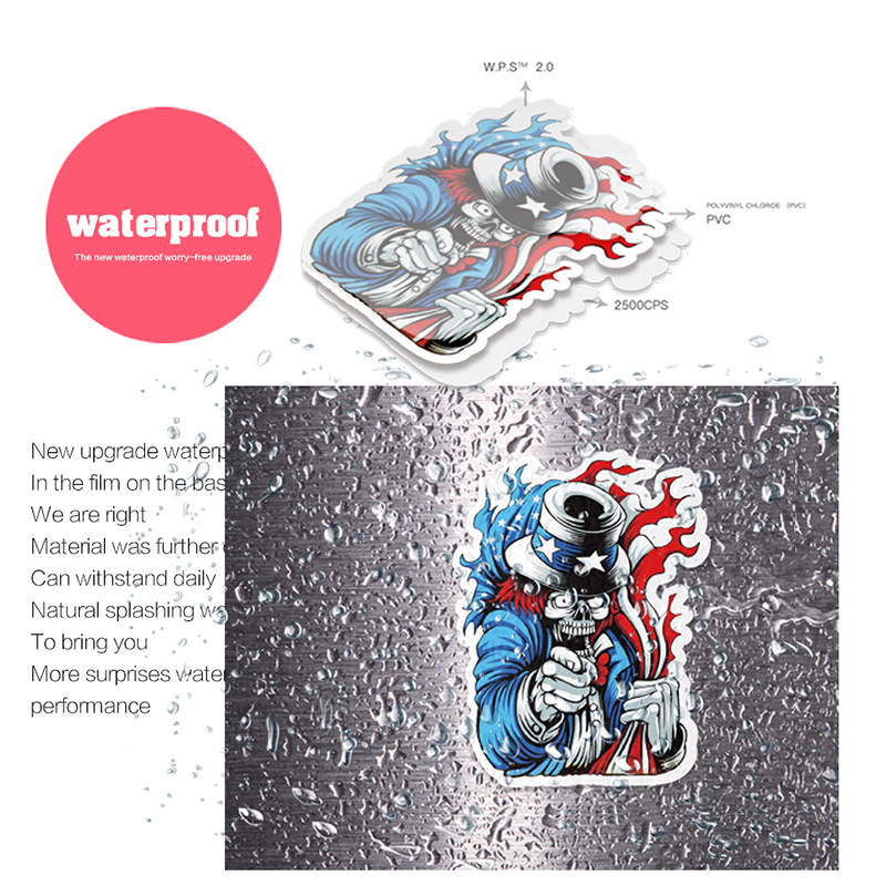 Купить с кэшбэком 50 PCS Waterproof Billie Eilish singer Cartoon Stickers Skateboard Fridge Snowboard Guitar Motorcycle Laptop Sticker Classic Toy