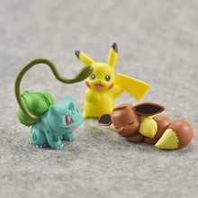 Takara  POKEMON 5pcs/set Cute Anime Figures First Generation Action Figure Model Decoration Gifts Toys for Children