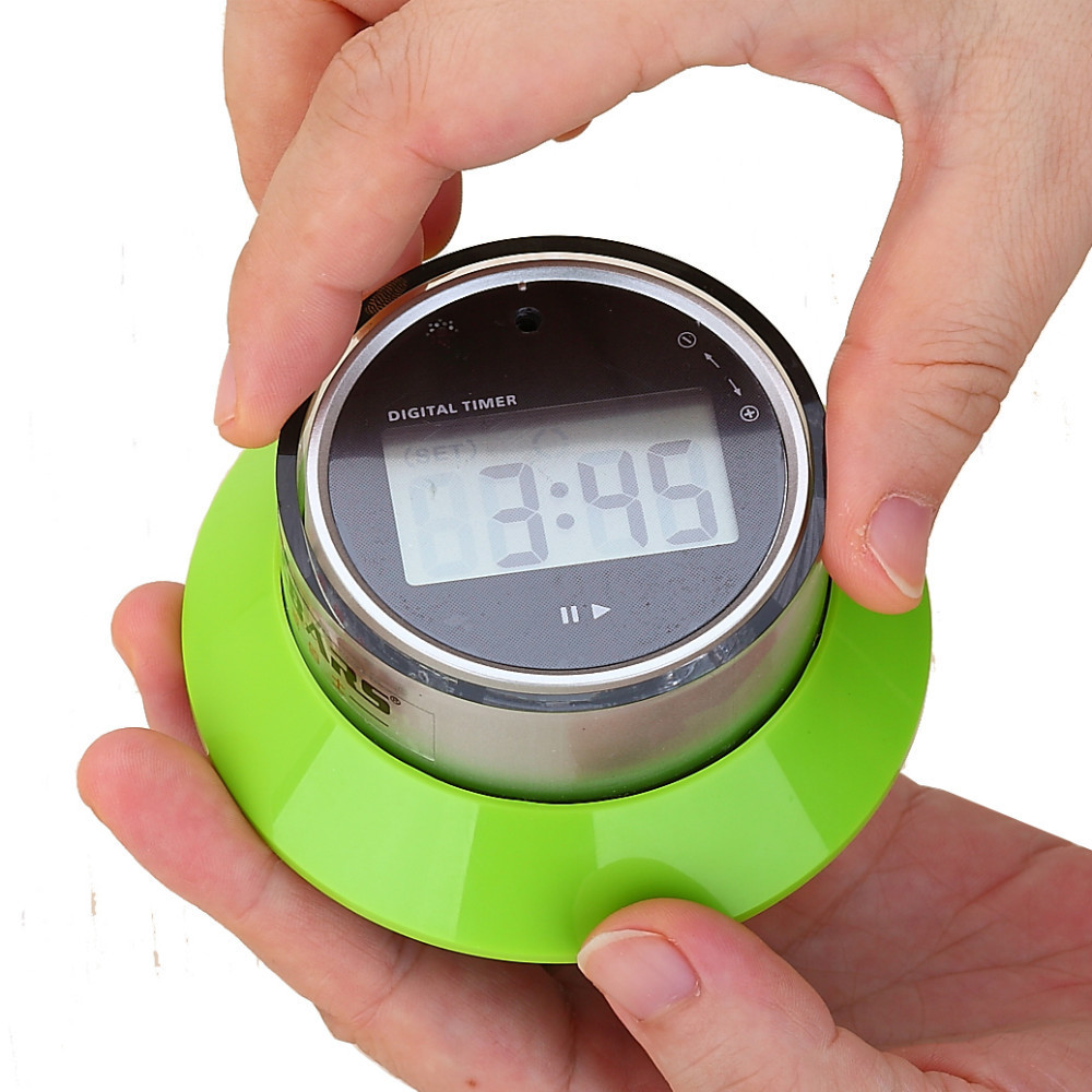 Wholesale Hot sale High Quality 3 colors kitchen timer digital magnet  magnetic  15s to 99 minutes LCD Display free shipping
