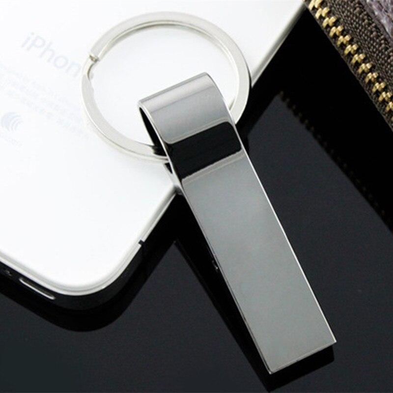 Stainless Steel USB Pen Drive 8gb 16gb Usb Flash Drive 32gb 64gb 128gb Pendrive Usb Stick Flash Drive With Keychain Thumbdrive