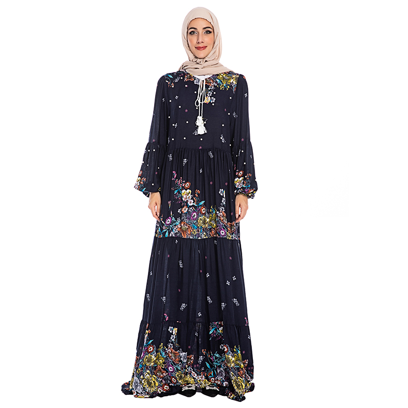 Abaya Turkish Long Sleeve Muslim Dress Islam Jilbab Caftan Dubai Kaftan Elbise Islamic Clothing Abayas For Women Hijab Dresses