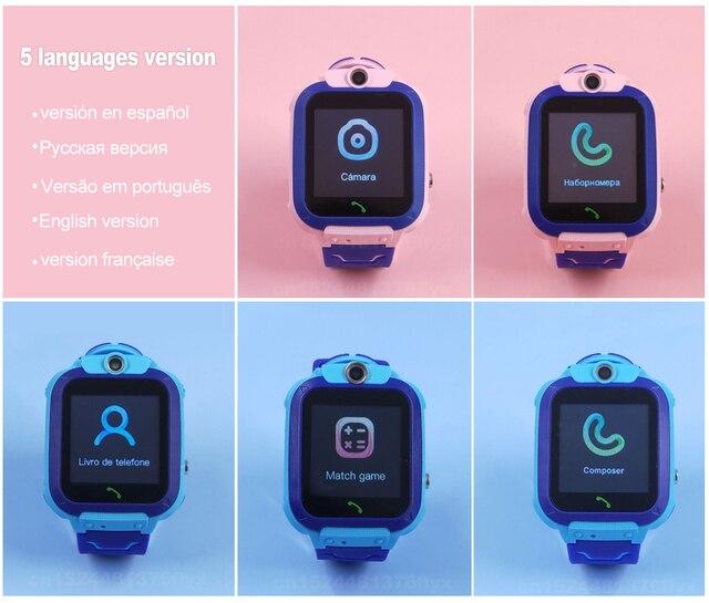 Q12 Kids Smart Watch SOS Phone Watch Smartwatch Kids 2G Sim Card Smart Phone IP67 Waterproof Children's Smart Watch Gift Clock 2